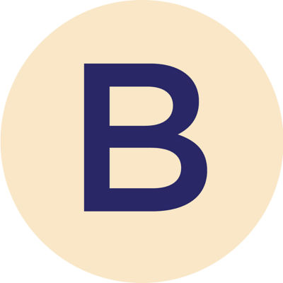 Gold Metallic B Charm