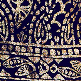 Gold Metallic Foil Tails of The Sea Engineered Dress
