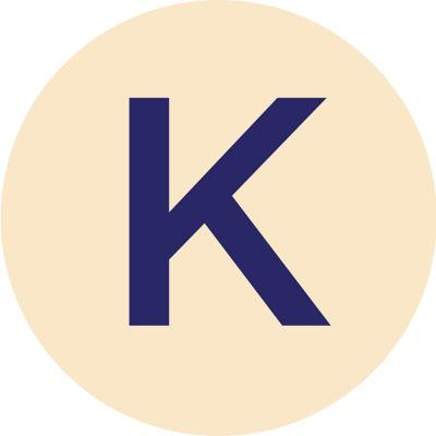 Gold Metallic K Charm