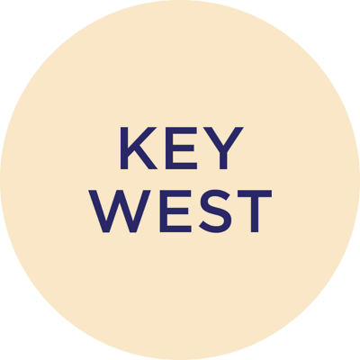 Gold Metallic Key West Charm