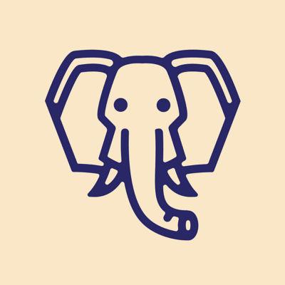 Gold Metallic Large Elephant Charm
