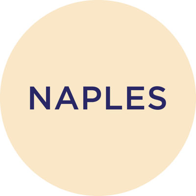 Gold Metallic Naples Charm