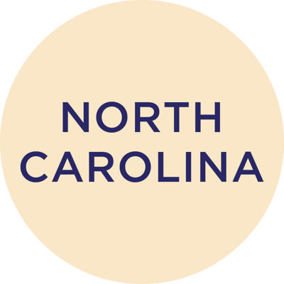Gold Metallic North Carolina Charm