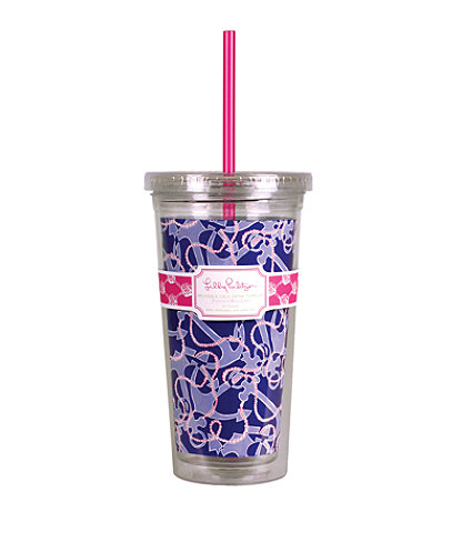 Tumbler With Straw, True Navy Booze Cruise, large