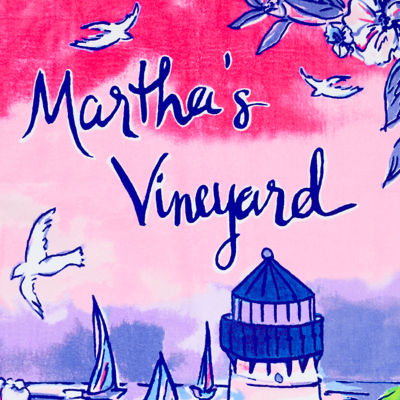Multi Destination Marthas Vineyard Towel