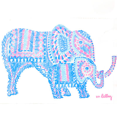 Multi Engineered Elephant Motif Pouch