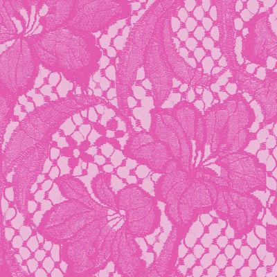 Pink Tropics Floral Vines Lace