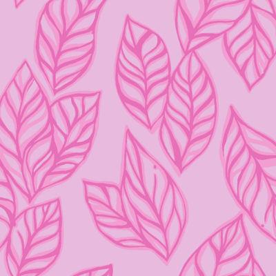 Pink Tropics Tint Vertical Leaf Poly Crepe Clip Jacquard
