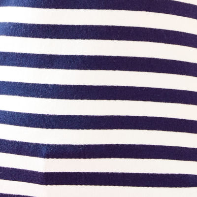 True Navy Two Color Positano Stripe
