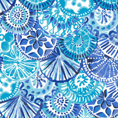 Turquoise Oasis Half Shell Shoe