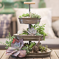 A Triple-Tier Succulent Centerpiece