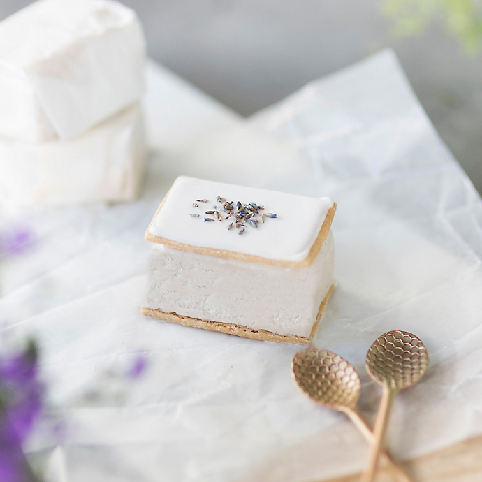 Lavender Ice Cream Sandwiches with Weckerly's