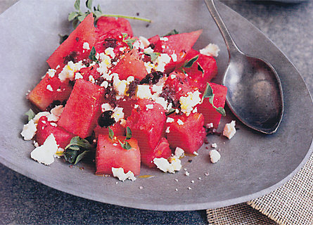 Summer Solstice Supper: Watermelon & Ricotta Salata Salad