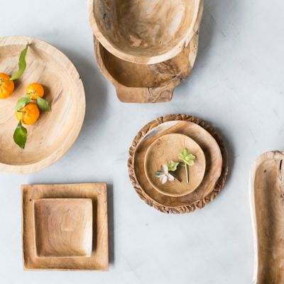 The Teak Root Serveware Collection