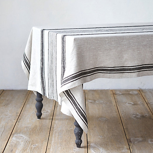 View larger image of Linen Striped Tablecloth