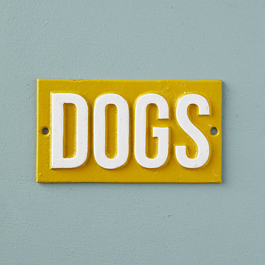 View larger image of Cast Iron Dogs Sign