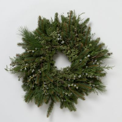 Silver & Blue Wreath