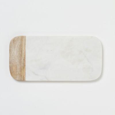 Marble & Wood Cheese Board