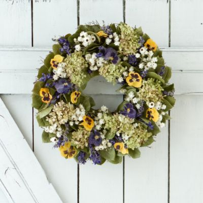 Pansy Patch Wreath