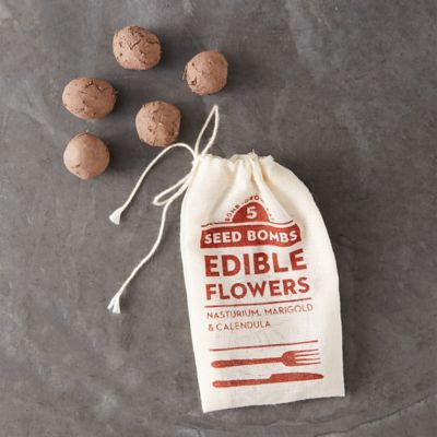 Edible Flower Seed Bombs