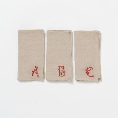 Monogrammed Linen Napkin