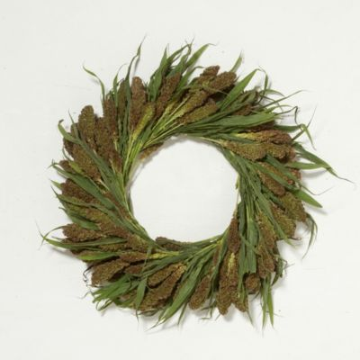 Fresh Millet Wreath, 20""