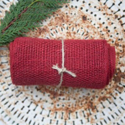 Wide Burlap Ribbon
