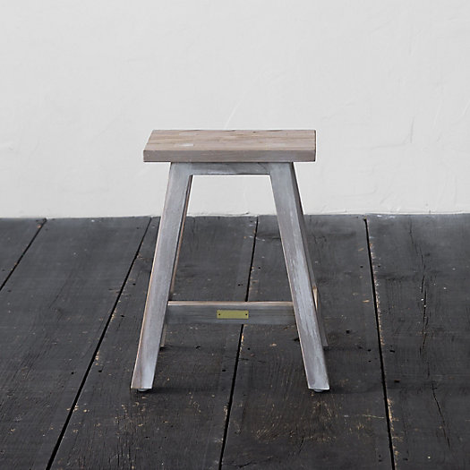 View larger image of Trestle Teak Stool