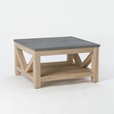 Stone & Teak Coffee Table