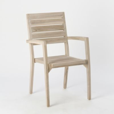 Vista Slatted Teak Stacking Armchair