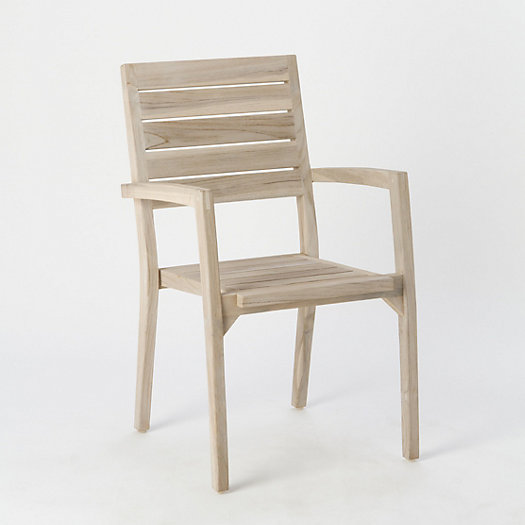 View larger image of Vista Slatted Teak Stacking Armchair