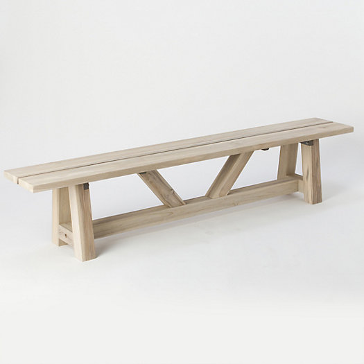 View larger image of Protected Teak Braced Bench, 7'