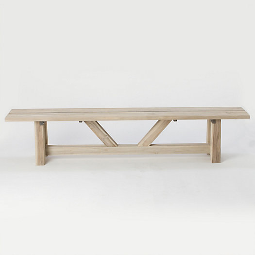 View larger image of Braced Leg Teak Bench, 7'