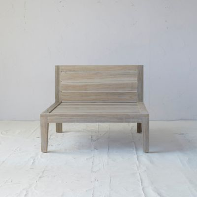 Vista Slatted Teak Armless Chair