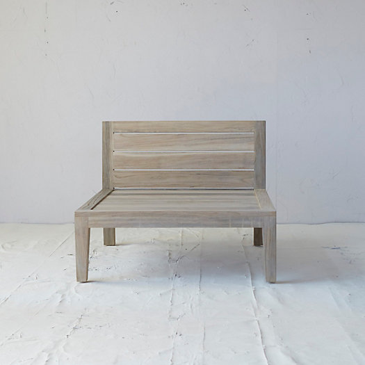 View larger image of Slatted Teak Armless Chair