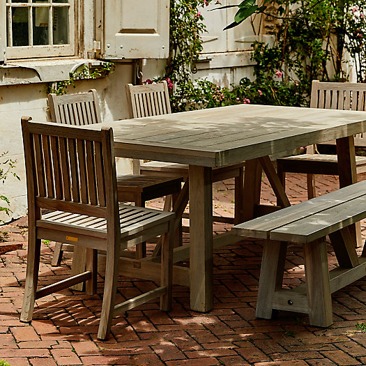 View larger image of Braced Leg Teak Dining Table, 7'