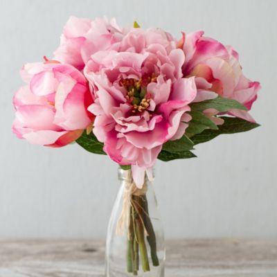Silk Peony Bouquet, Pink