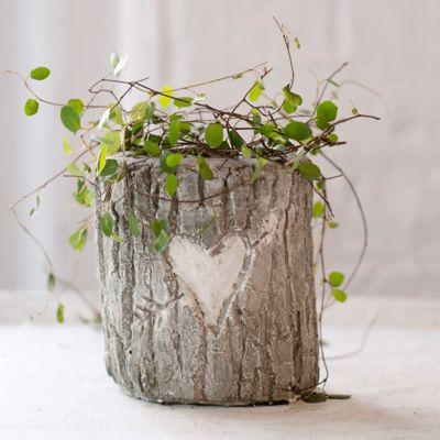 Heart & Arrow Log Planter