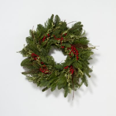 Redtwig & Evergreen Wreath
