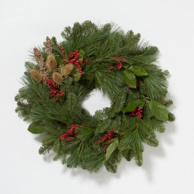 Long Pine & Teasel Wreath