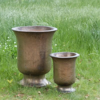 Fluted Stoneware Urn