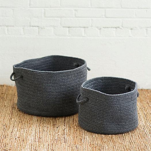 View larger image of Woven Wool Storage Basket
