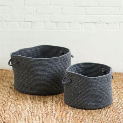 Woven Wool Storage Basket