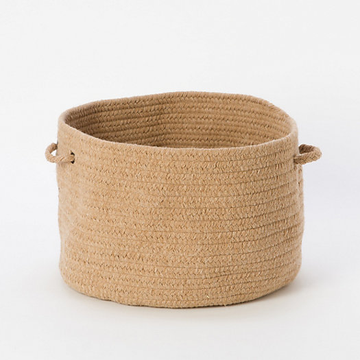 View larger image of Woven Wool Storage Basket