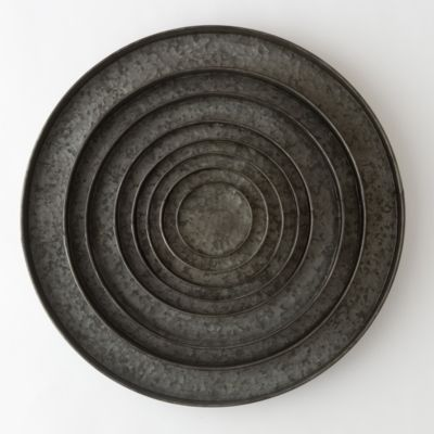 Habit & Form Circle Tray, Dark Zinc 5-25""