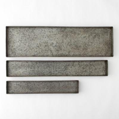 Habit & Form Rectangle Tray, Dark Zinc 24-36""