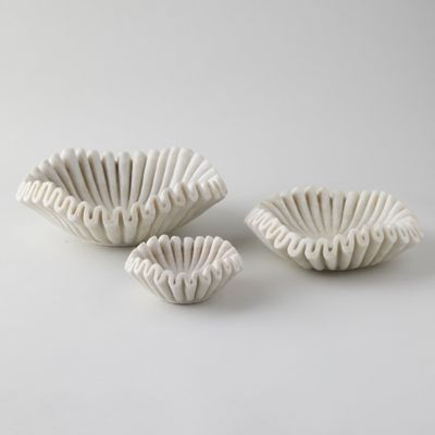 Ruffled Marble Bowl
