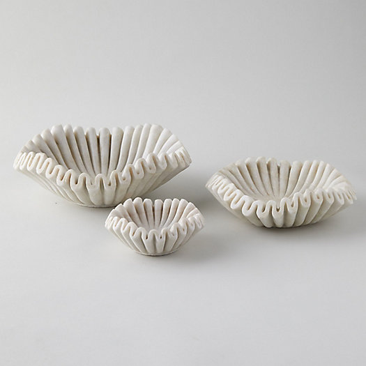 View larger image of Ruffled Marble Bowl