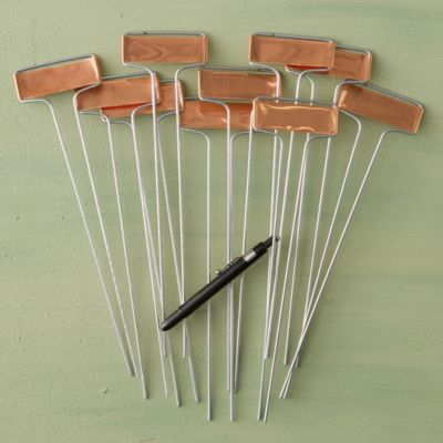Copper Plant Markers, Horizontal
