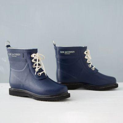 Ilse Jacobsen Laced Rain Boot, Short